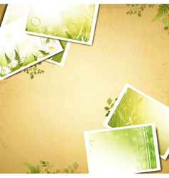vintage eco background vector image vector image