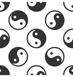 Yin Yang symbol icon pattern on white background vector image vector image