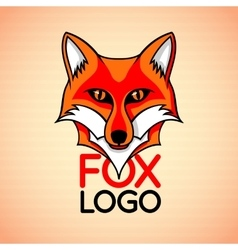 Logo badge sign template with red fox vector