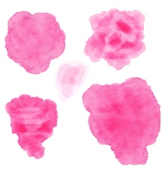 Set of watercolor blobs vector