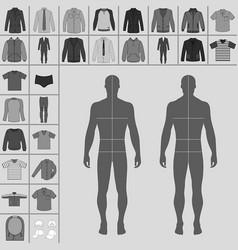Mens clothing set vector