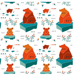 Modern animalistic textile pattern vector