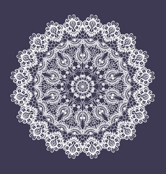 Lace round ornament vector