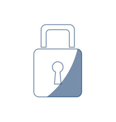 Padlock security information technology data vector
