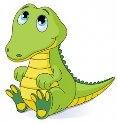 Baby crocodile vector