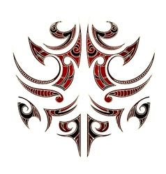 Maori tribal tattoo vector