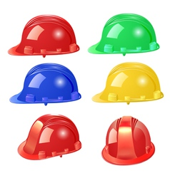 Set of building helmet vector