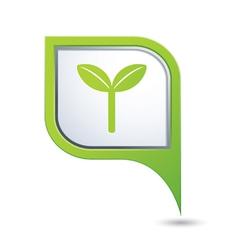 Eco green pointer vector