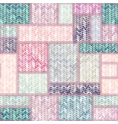 Patchwork of knitted patches vector