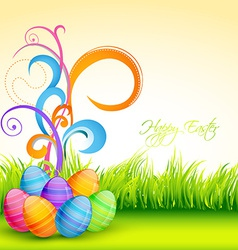 Easter floral vector