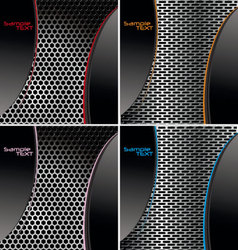 perforated metal backgroundset vector image