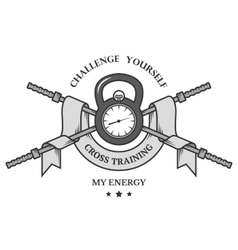 Cross training emblem vector