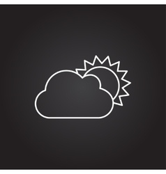 Cloudness icon vector