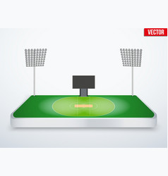 Concept of miniature tabletop cricket stadium vector