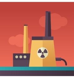 Power station - flat design single icon vector