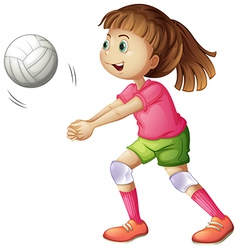 A young volleyball player vector image vector image