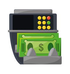 Atm money machine vector