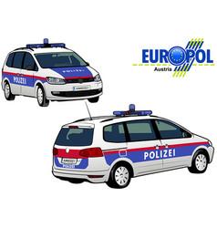 austria police car vector image vector image