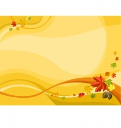 autumn card vector image vector image