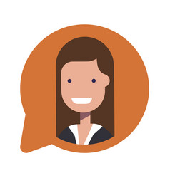 Avatar businesswoman or manager social icon in vector