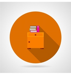 Bedside table flat icon vector image