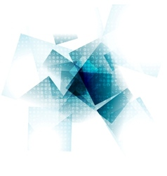 Blue grunge geometric design vector image vector image