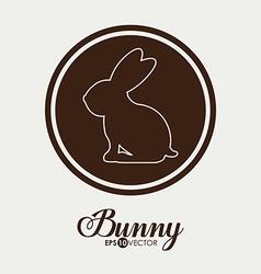 Bunny design vector image