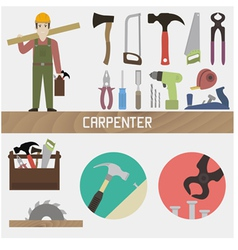 Carpenter vector image vector image