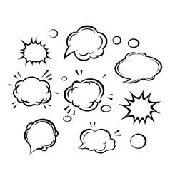 Cartoon clouds and bubbles vector image vector image