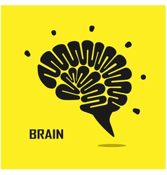 Creative brain abstract logo design vector