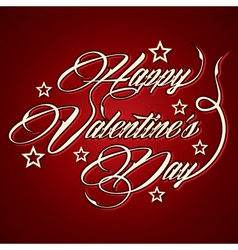 Creative Happy Valentines Day greeting vector image vector image