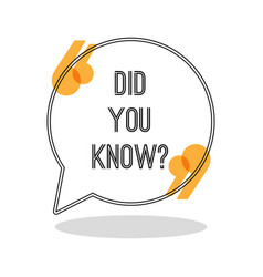 Did you know sign in inverted commas inside speech vector