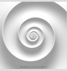 Fibonacci spiral white abstract background vector