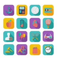 Flat icons for Web Design vector image vector image