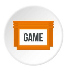 Games floppy disk icon circle vector