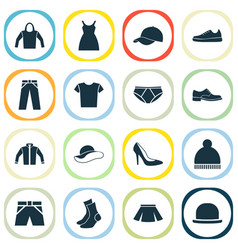 Garment icons set collection of half-hose casual vector