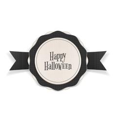 Happy Halloween greeting Emblem Template vector image vector image