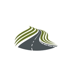 Highway road symbol with dividing strip vector image vector image