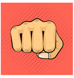 hit shock blow strike punch fist icon symbol vector image