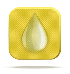 Icon of waterproof material vector