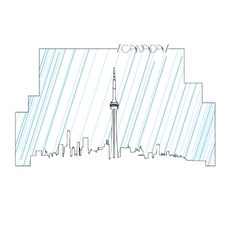 Isolated skyline of Toronto vector image