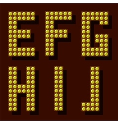 Light Letters vector image