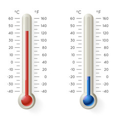 meteorology thermometer temperature celsius vector image