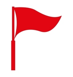 red flag isolated icon design vector image