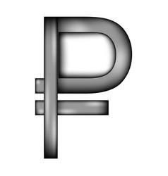Russian ruble symbol sign icon vector