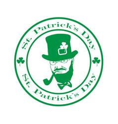 saint patrick day logo vector image
