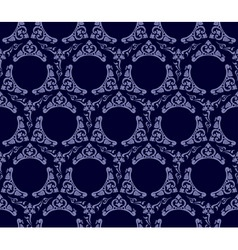 seamless wallpaper background vintage blue black vector image vector image