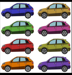 set of cars crossovers vector image vector image