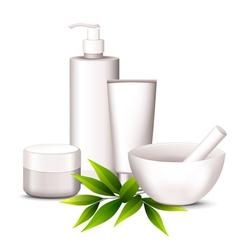 Spa cosmetics vector