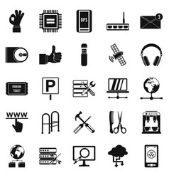 sustenance icons set simple style vector image